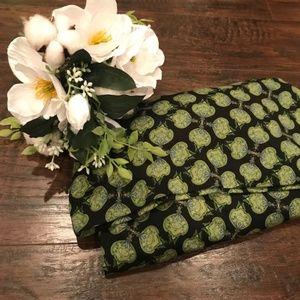 Lularoe | maxi skirt w green floral abstract print